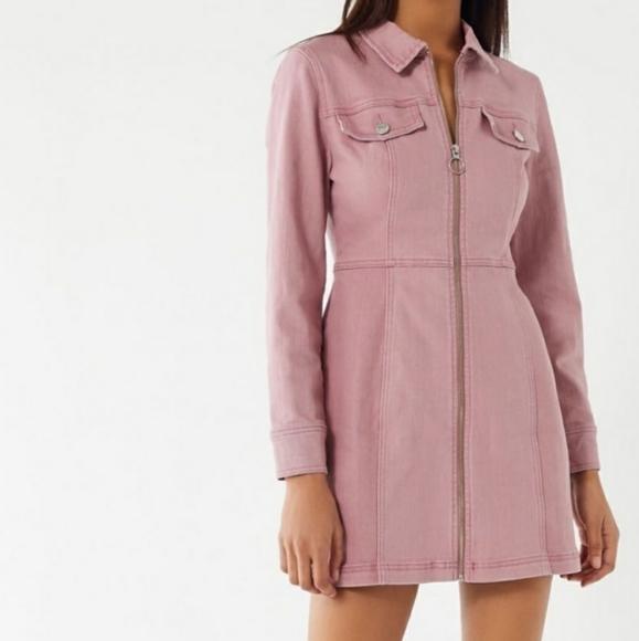 UO BDG Zip Front Denim Dress